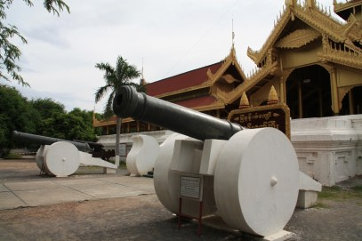Cannons at the entrance.