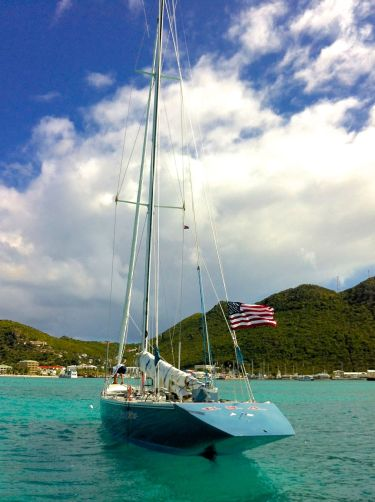 St Martin Americas Cup Stars and Stripes Yacht