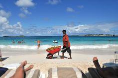 St Martin Plage di Orient Bay Coconut Man