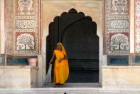 Amer Fort Cleaning Lady