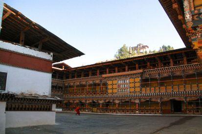 Paro Dzong Courtyard 2 Bhutan