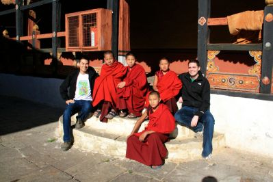 Paro Dzong Monks David Bill Bhutan