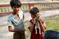 Boys with Puppy Dakhineswar