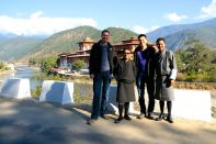 Punakha Dzong with Guides