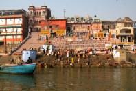 Varanasi Ghat Bathers