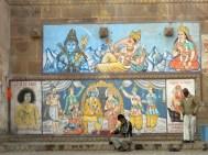 Varanasi Mural and Musician