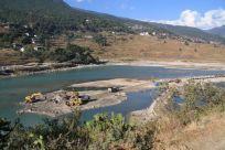 Wangchuk River Sand Harvest Bhutan