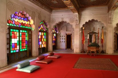 Mehrangarh Fort Room with Stained Glass