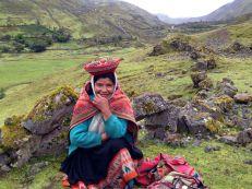 Lares Trek Day 2 Villager Vendor with Hat