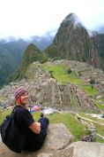 Machu Picchu David Down View