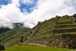 Machu Picchu Terraces Side View