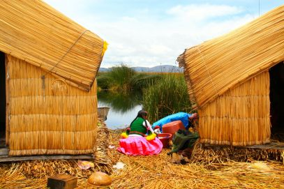 Uros Floating Islands Washing