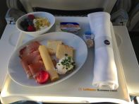 Flight to Dusseldorf Lufthansa meal