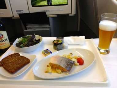 Lufthansa Flight to EWR Business Class Meal
