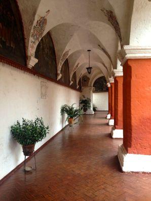 Monasterio Di Santa Catalina Archway Red and White