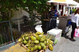 St Johns Coconut Vendor