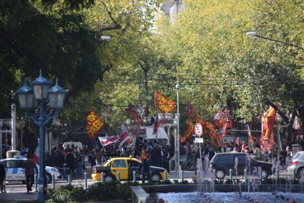 Rowdy protestors