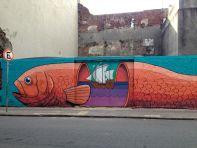 Montevideo Street Graffiti Fish