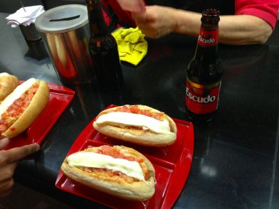 Santiago Plaza de Armas Street Food Hot Dogs