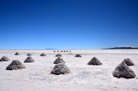 Uyuni Salt Flats Mounds of Salf