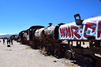 Uyuni Train Cemetery Graffiti