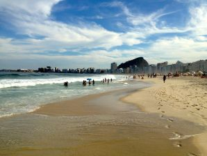 Copacabana Beach sea