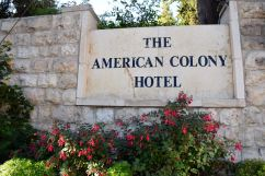 American Colony Hotel Outdoor Sign