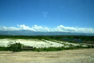Haiti Road Scene US Aid Field
