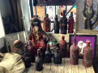 Iron Market Port-au-Prince Doll and Bottles