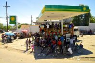 Port-au-Prince Street Scene Gas Station