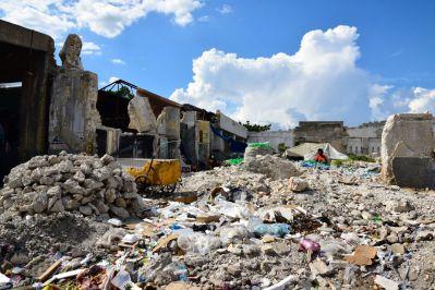 Port-au-Prince Street rubble