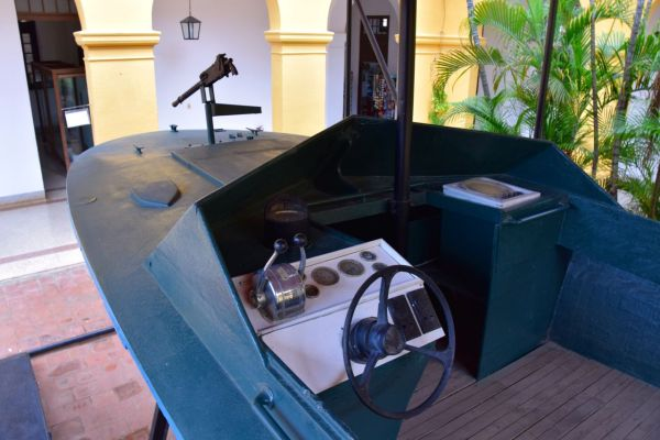 Trinidad Museum of the War Against the Bandits Boat