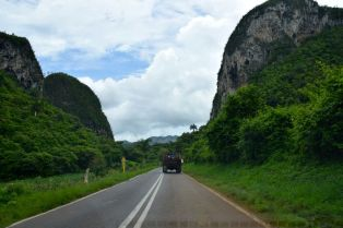 Driving in Vinales