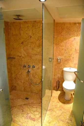 Asimina Suites Hotel Room Bathroom Shower