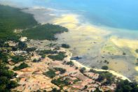 Ethiopian Air View of Zanzibar Port