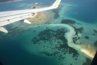 Ethiopian Air View of Zanzibar Reefs