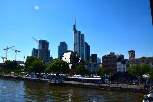 Frankfurt Eiserner Steg View of Skyline