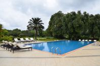 Mount Meru Hotel Pool and Garden