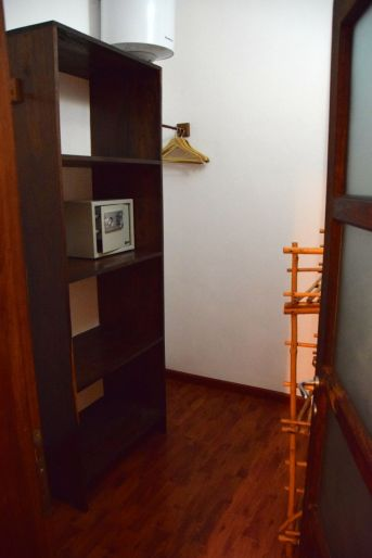 Walk in closet with safe