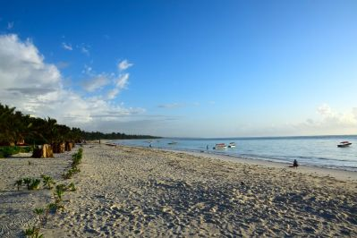 The beautiful beach outside the resort