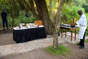 Sarova Mara Game Camp Restaurant Champagne Breakfast Chef