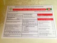 Bujumbura Airport Burundi Immigration Form