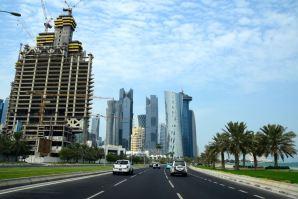 Doha City from Road