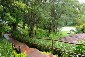 Mantenga Lodge Stairs and Pool