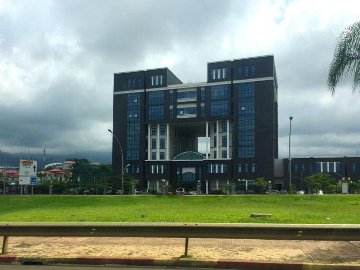 Modern buildings...