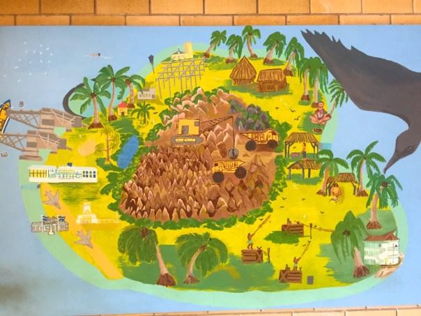 Nauru Airport Painting Detail