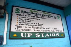 Hotel Robert Reimers Sign