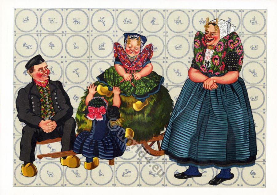 dutch national costumes traditional netherlands folk