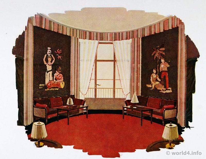 Art Deco Interior Design Furniture ~ Art deco interior design color and furniture s