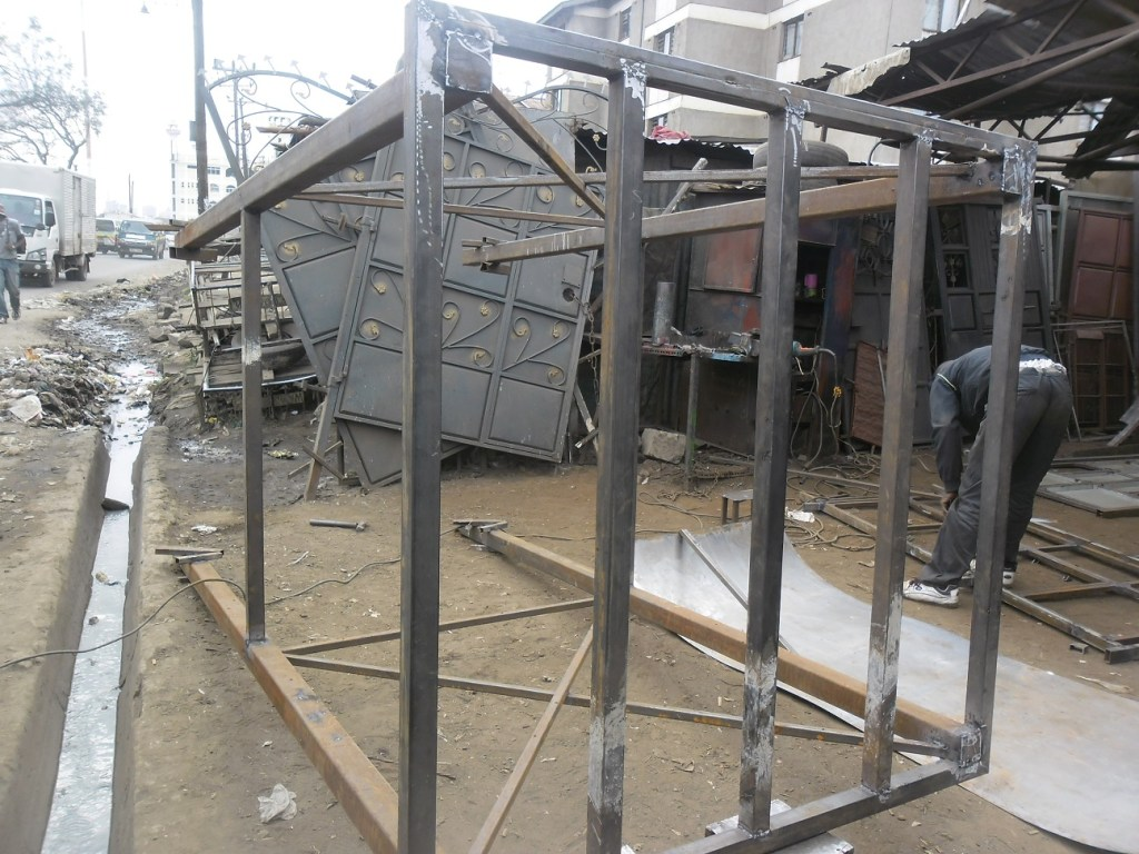 13 ft Water Tank Stand under construction (1)